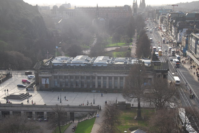 View from the Scott Monument - National Academy