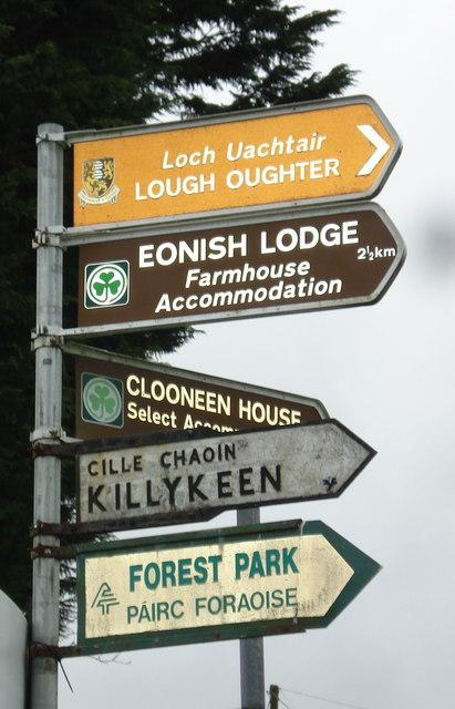 Signpost at Snakeel, Killeshandra