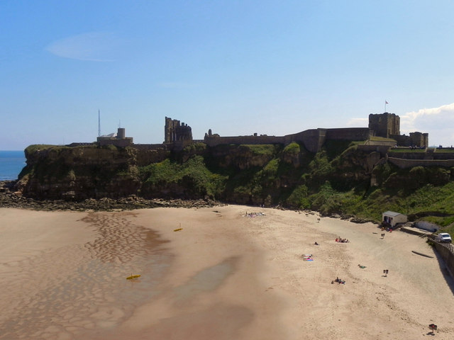 Short Sands and Tynemouth Priory and Castle