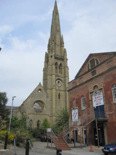The Square Chapel and the Congregational church