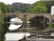 NZ2742 : River Wear, Framwelgate Bridge by David Dixon