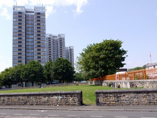 Todd's Nook, Westgate Court and Vallum Court from Tindal Street