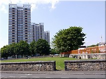 NZ2364 : Todd's Nook, Westgate Court and Vallum Court from Tindal Street by Andrew Curtis