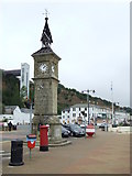 SZ5881 : Shanklin clock tower and cliff lift by Malc McDonald