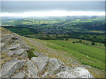 SO2220 : Crickhowell from the crags of Crug Hywel by Jeremy Bolwell
