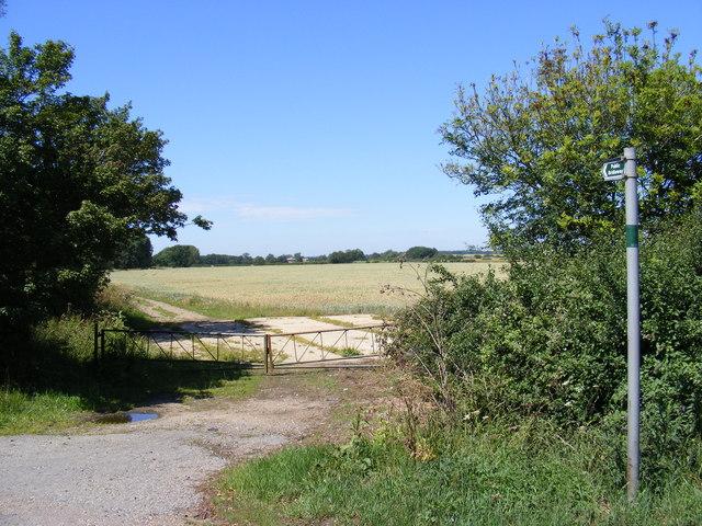 Brook Side Bridleway to Mere Way & Graveley Way