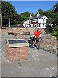SJ3681 : Coast Rider Bob Jones at Eastham Ferry by John S Turner
