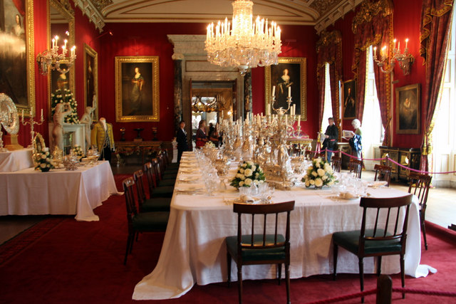 Dining Room Chatsworth House 169 Christine Matthews Cc