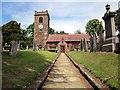 SJ4668 : St Bartholomew's Church, Great Barrow by Jeff Buck