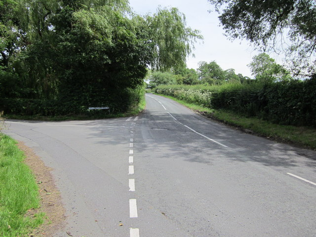 Road junction at Great Barrow
