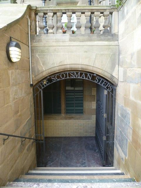 The Scotsman Steps entrance, off the North Bridge