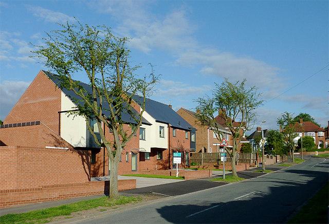 New housing in Penn, Wolverhampton