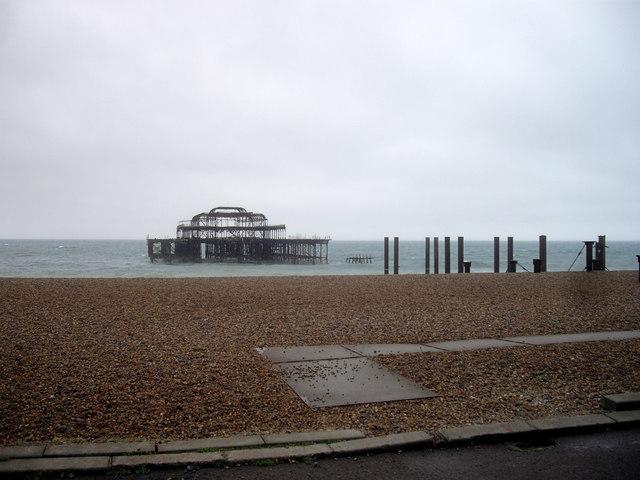 Remains of West Pier, Brighton