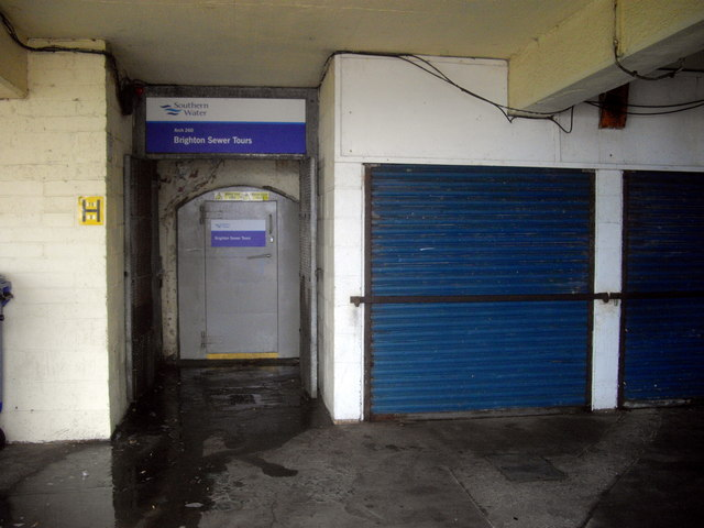 Entrance to Brighton Sewer Tours
