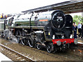 ST2225 : Locomotive Oliver Cromwell at Taunton Station by Christine Matthews