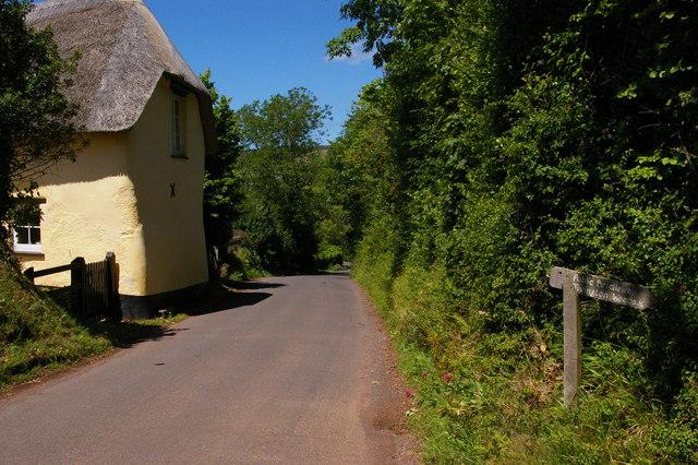 Tivington: cottage and bridleway