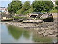SX5053 : Rotting hulls at low tide by Philip Halling