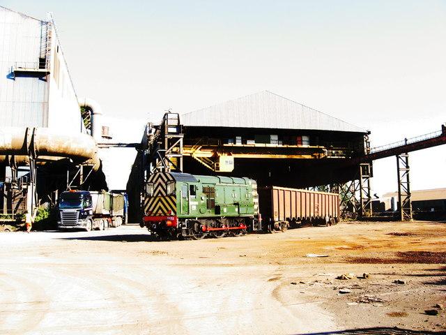 Scrap Bay, Celsa steelworks, Tremorfa by Gareth James