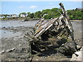 SX5052 : Ruined hulk, Hooe Lake by Philip Halling