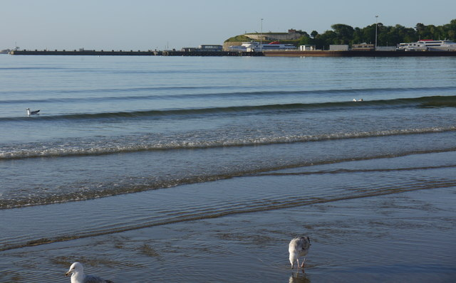 Looking towards the Nothe and the pier, Weymouth