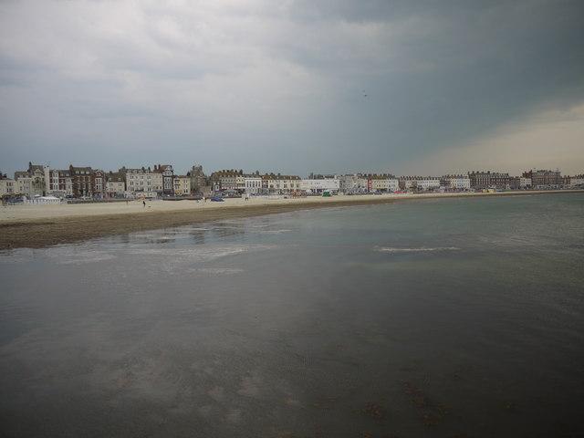 Thunder storm over Weymouth beach