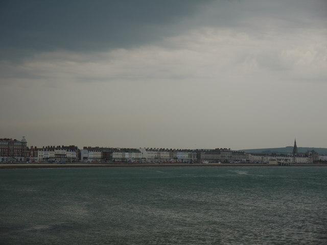 Storm over Weymouth beach