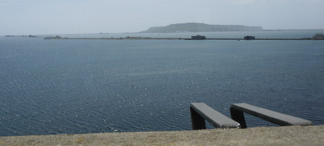 Looking towards Portland and the breakwater