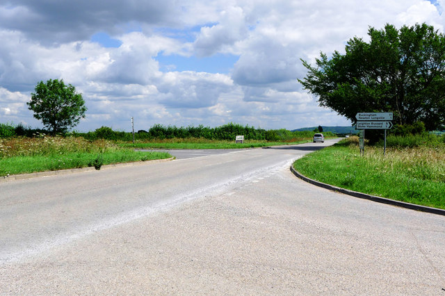 Staggered Crossroads near Rectory Farm, near Bletchley