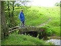 SJ9478 : Footbridge over Harrop Brook in Berristall dale by Peter Fleming