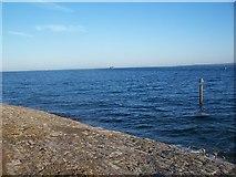 SZ6497 : Sea defences below Southsea Castle by David Martin