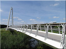 SO8453 : River Severn,Diglis bridge by kevin skidmore