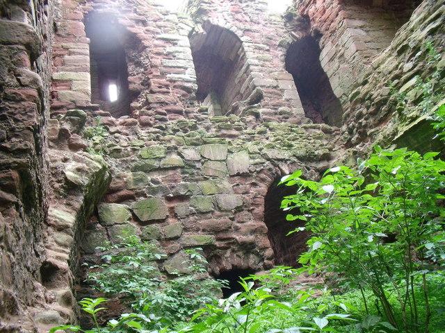 Inside Cessford Castle (1)