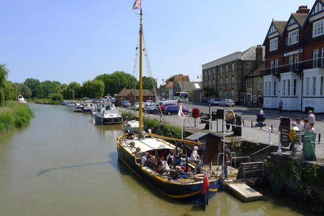 The Quay, River Stour at Sandwich, Kent