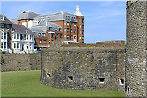 TR3752 : Old Castle, New Housing, Deal, Kent by Cameraman