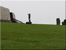 O0072 : A statuesque photographer at Newgrange by Eric Jones