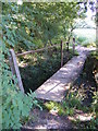 TM3764 : Footbridge on the footpath to St.Peter's Church by Adrian Cable