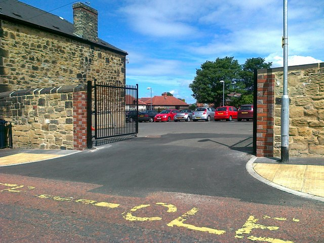 Entrance to Kells Lane Primary School