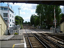 TQ1572 : Looking south from Strawberry Hill station by Marathon