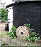 TM4077 : Holton Mill - old mill stones by Evelyn Simak