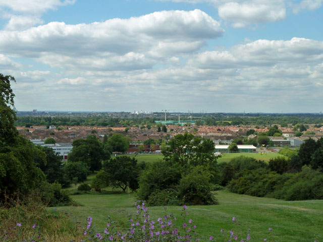 View south-west from Pollards Hill