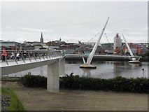 C4317 : Peace bridge, Derry / Londonderry (14) by Kenneth  Allen