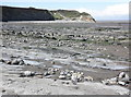 ST0843 : Wave-cut rock platform, Helwell Bay by Roger Cornfoot