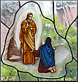 TQ5329 : St Michael & All Angels, Jarvis Brook - Stained glass window by John Salmon