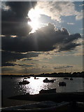 SZ1891 : Mudeford: sunshine and cloud over Christchurch Harbour by Chris Downer
