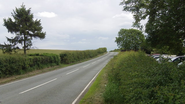 B4380 at the junction of the B4390 near Wroxeter Roman City