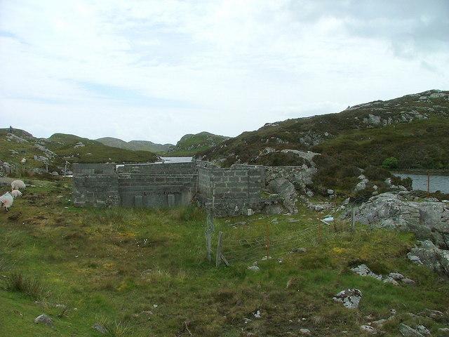 Sheep fank by Loch Phlocrapoil