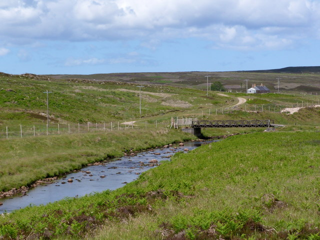 Bridge across the Halladale River to Craggy