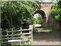SP2067 : A bath, a waymarker and a railway bridge by Robin Stott