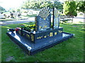 TQ4868 : Traveller's grave in St Mary Cray Cemetery by Marathon
