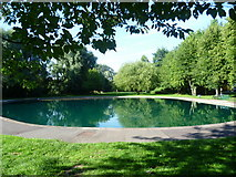TQ4667 : Pond in Riverside Garden, St Mary Cray by Marathon